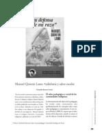 Manuel Quintin Lame Sabiduria y Saber Escolar
