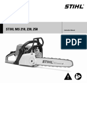 STIHL MS210 Manual | Gasoline | Energy And Resource