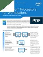 Xeon e5 Workstation Brief