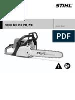 STIHL MS210 Manual