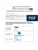 Adding Voice_PowerPoint as Video