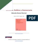 Eduardo Novoa Monreal Derecho Politica y Democracia