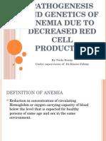 Anemia Due to Dec Prod