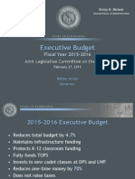 Jindal FY16 Proposed Budget