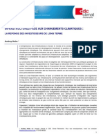 Etude Climat 22-Infrastructures Climat Et Investisseurs de Long Terme c CDC Climat Recherche 2010