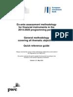2014-2020 Programming Period_ex_ante Assessment Methodology