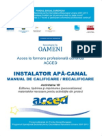 Manual Instalator Si Canalizator