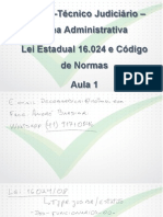 Sgc Tj Pr 2014 Tecnico Lei Estadual 16024 e Cod de Normas 01 a 05