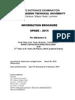 Upsee 2015 Information Brochure Pdf Uptu Brochure