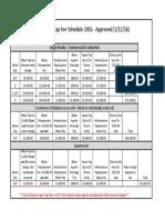 Tap Schedule 2016