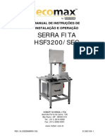 Manual de Instrução de Instalação e Operação Serra Fita Hsf3