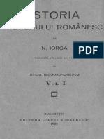 Nicolae Iorga - Istoria Poporului Romanesc. Volumul 1