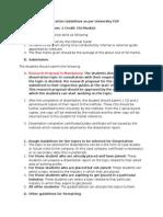 Dissertation Guidelines as Per University FDP