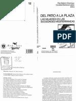 Bailarín, P. y Martínez, C. (__) Del Patio a La Plaza_Las Mujeres en Las Sociedades Mediterráneas