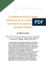 La legitimacion del campo de la comunicación - A.M. Lalinde