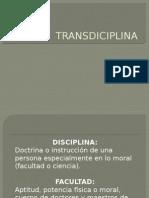 TRANSDICIPLINA