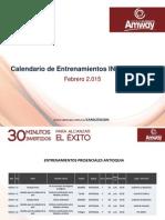 Calendario Entrenamiento COL 09