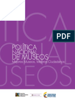 Política Nacional de Museos de Colombia 2015