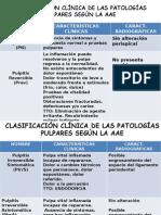 Clasificacion Pat. Pulpar y Apical New