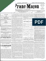 1885 - Le Franc Maçon n°7 - 7-14 Novembre 1885 - 1ère année.pdf