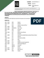 PCM Initialization Service Bulletin