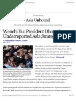 President Obama's Underreported Asia Strategy
