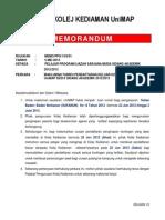 5-Makluman Tarikh Pendaftaran Keluar Kolej Kediaman Unimap Sesi II Sidang Akademik 20122013 0