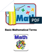 basic mathematical terms