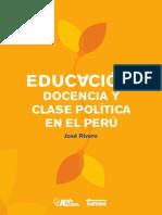 Educación, Docencia y Clase Política en El Perú