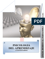 Tests Psicología del Aprendizaje (Ángel Berrocal)