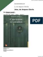 Cuentos Reunidos, De Amparo Dávila