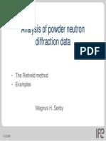 Data Analysis - Rietveld Refinement