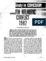 A Case Study in Cohesion - South Atlantic Conflict 1982 - Nora Kinzer Stewart MILITARY REVIEW l April 1989