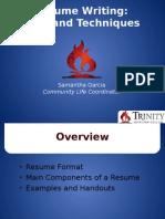 resume writing pp