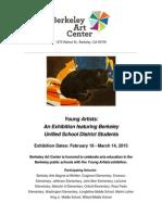 Berkeley Art Center BUSD Art Exhibition