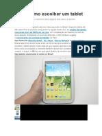 Processo de Escolha de Um Tablet