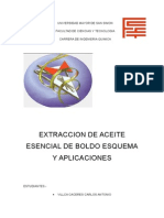 Aceite Esencial de Boldo - extracciones