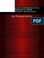 cultural practices contributing to the transmission of human micro