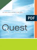 NIV Quest Study Bible Sampler