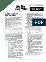 Tool Safety Toolbox Talk