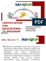 Edumonde AMS Certification
