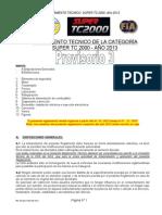 Reglamento Tecnico Super Tc2000-2013 Provisorio
