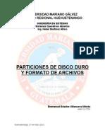 Sistema de Archivos y Particiones