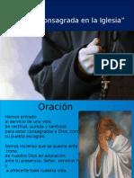 Tema 3 La Vida Consagrada en la Iglesia