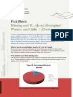 Missing and Murdered Aboriginal Women and Girls in Alberta
