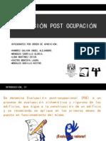 Evaluacion Post Ocupacion