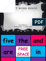 julie pellegrini - sight word bingo - mat 675