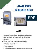 Analisis Kadar Abu
