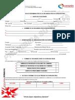 Planilla Para La Solicitud de Reserva de Nombre Para Las Organizacion Socioproductivas Empresas d