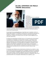 PEDAGOGIA DEL OPRIMIDO DE PAULO FREIRE